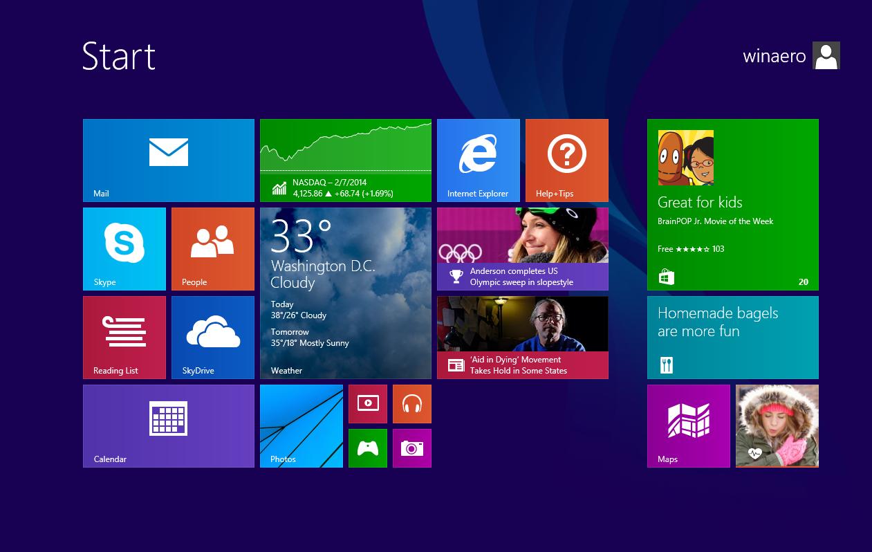 No Desktop Tile