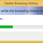 How to create a shortcut to delete the browsing history in Internet Explorer 11