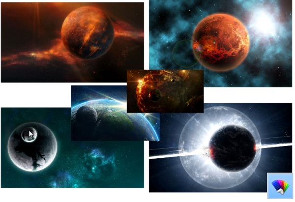 Planetary Orbits theme for Windows 8