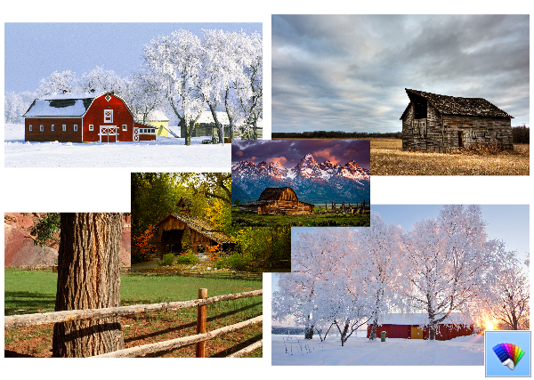 Village Landscapes theme for Windows 8