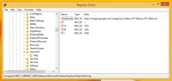 Internet Explorer Custom Search
