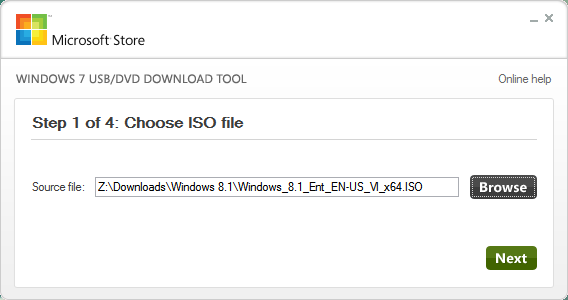 Windows USB ISO Download tool