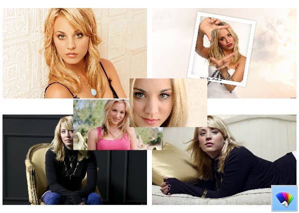 Kaley Cuoco theme for Windows 8