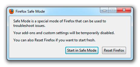 FF safe mode
