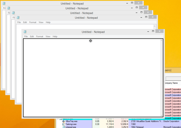 Process Explorer Crosshair