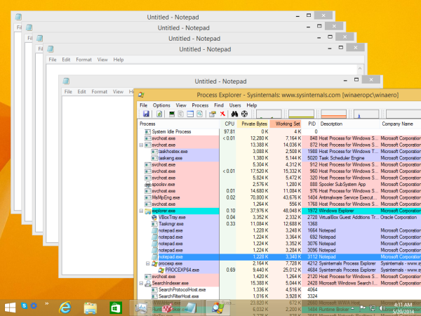 Process Explorer Instance found