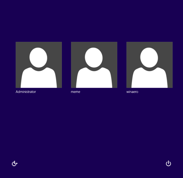 How to enable or disable the hidden Administrator account in Windows 8