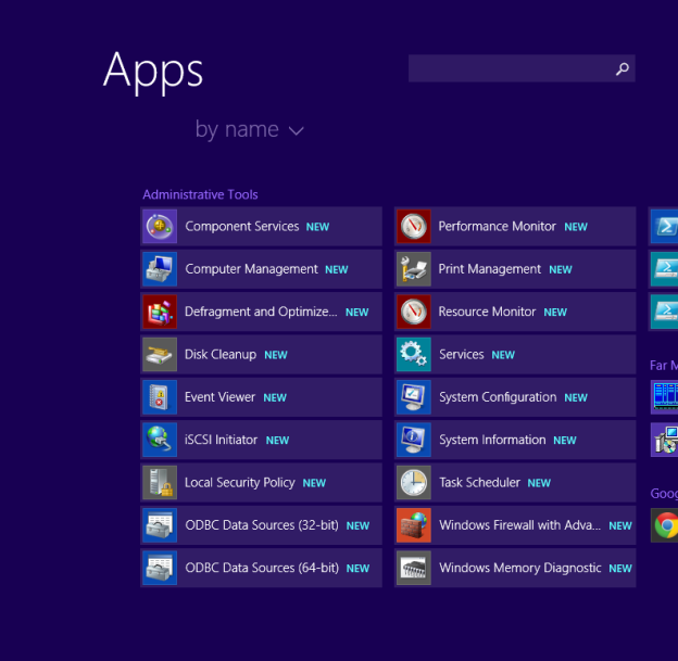 How to display Administrative tools on the Start screen in Windows 8 and Windows 8.1