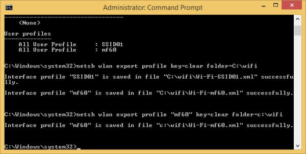 netsh wlan export single profile