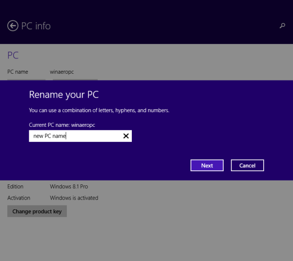 rename your PC