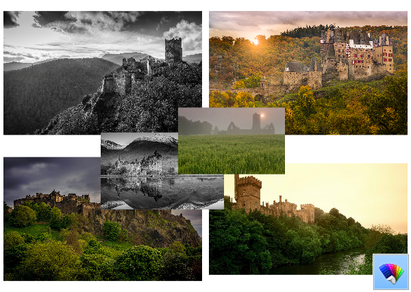 Castles theme for Windows 8