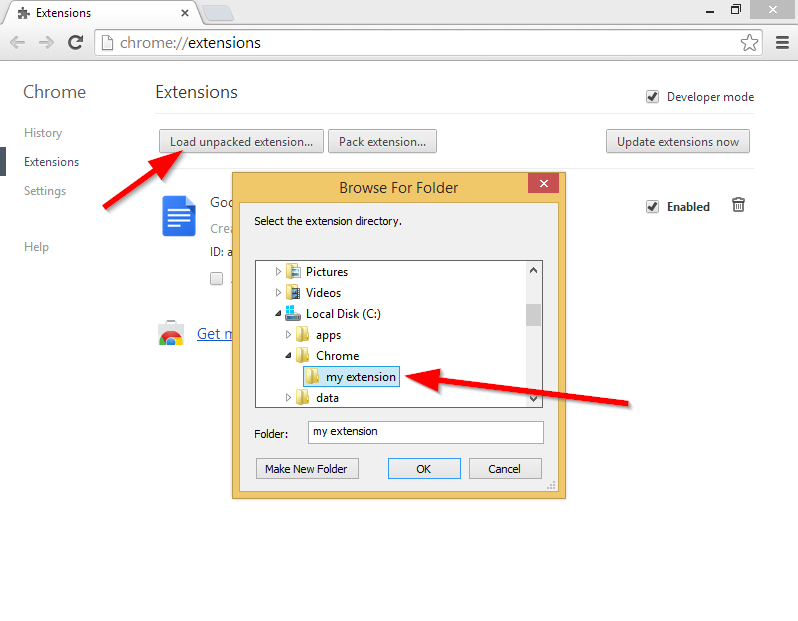 How to install a blocked extension in Google Chrome
