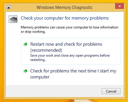windows memory diagnostics