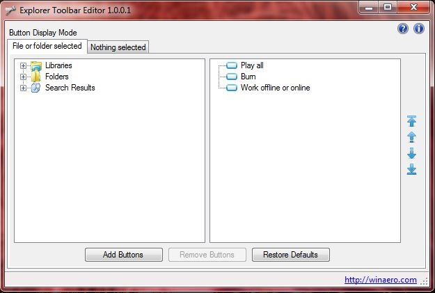 Add Or Remove Buttons From The Windows 7 Toolbar With