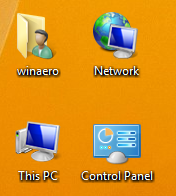 How to show classic desktop icons on Desktop in Windows 8.1