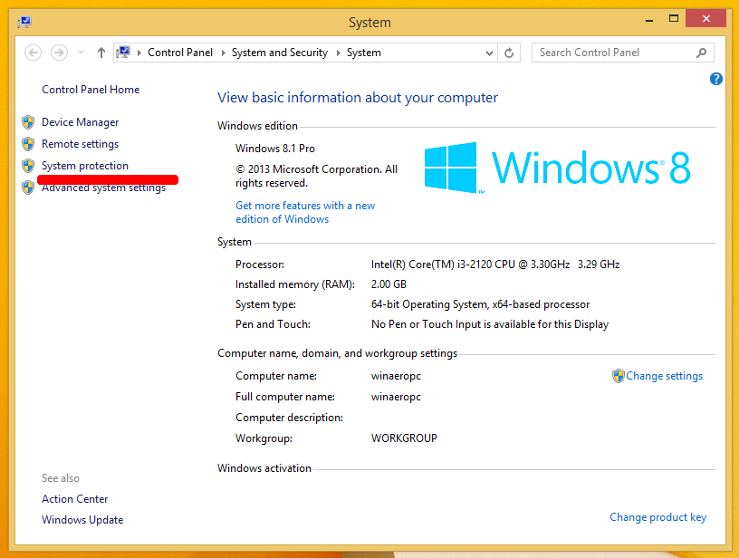 How To Run System Restore In Windows 8 1 And Windows 8