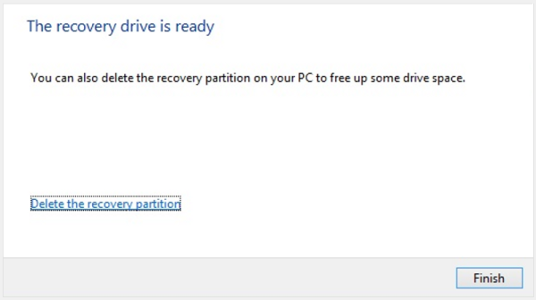 Delete recovery partition