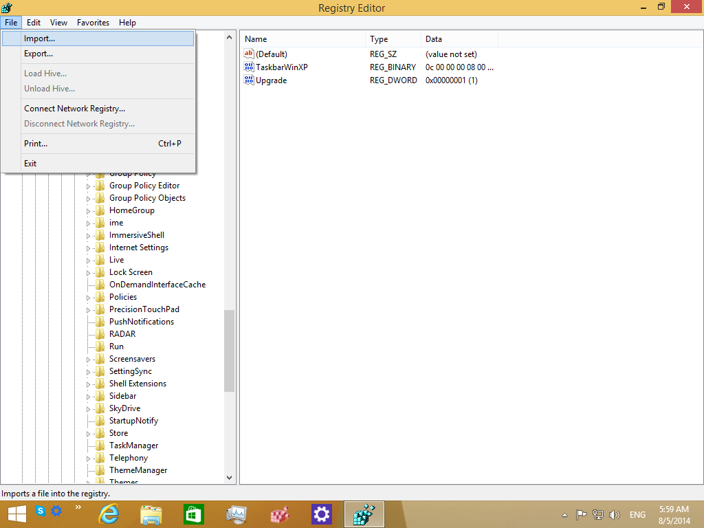 How to create a backup of your Taskbar toolbars in Windows