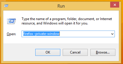 How to run Firefox in private browsing mode from the command line or