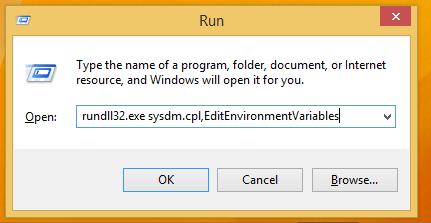 rundll32 sysdm.cpl EditEnvironmentVariables