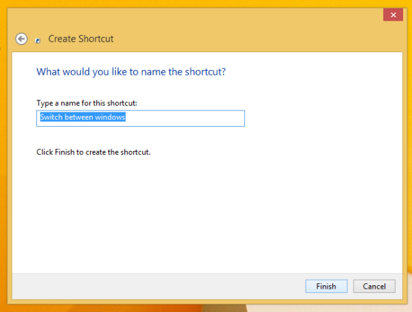 Name the Switch between windows shortcut