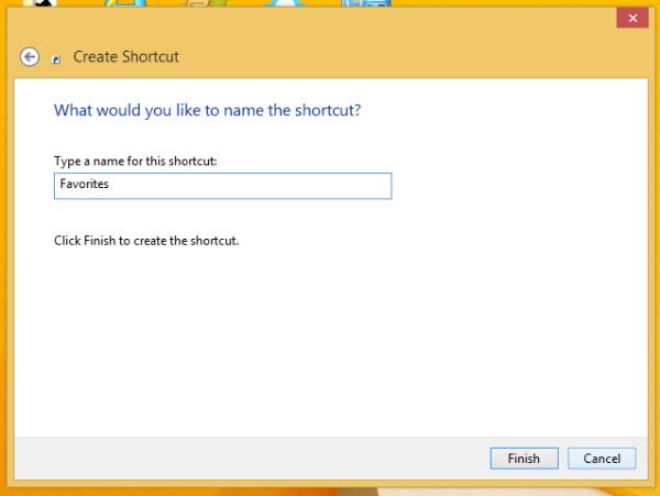 name favorites shortcut