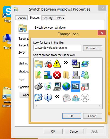set Switch between windows icon