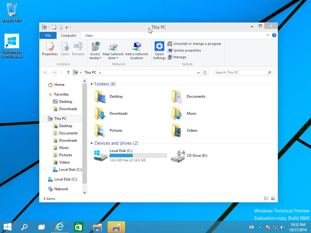 how to create this pc shortcut windows 10