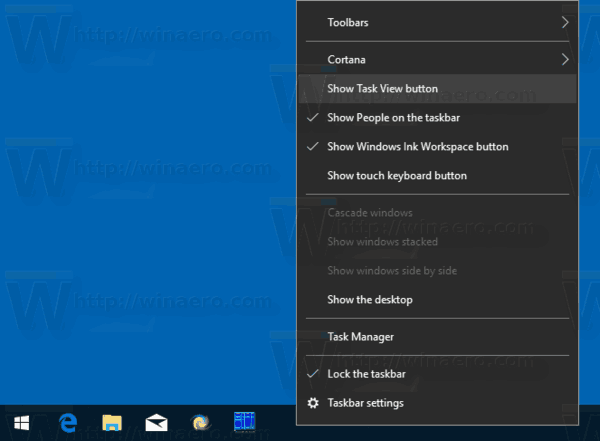 Windows 10 Hide Task View Button From Taskbar
