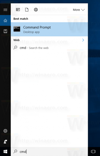 Windows 10 Search Open Cmd