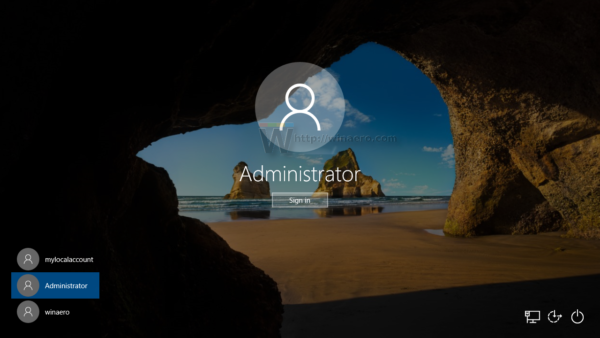 Windows 10 sign in with administrator