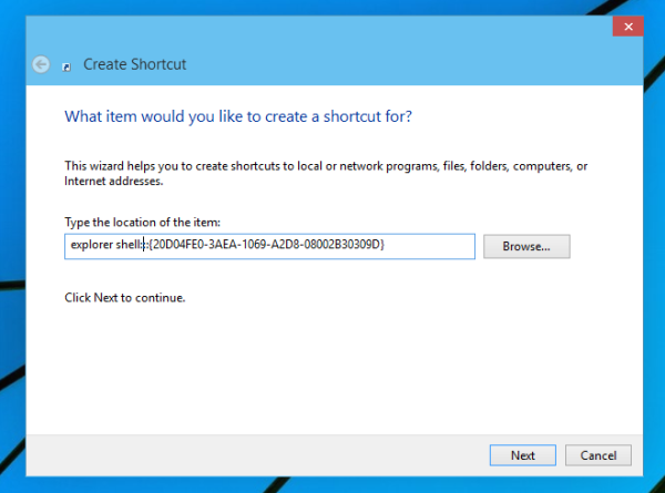 file explorer shortcut
