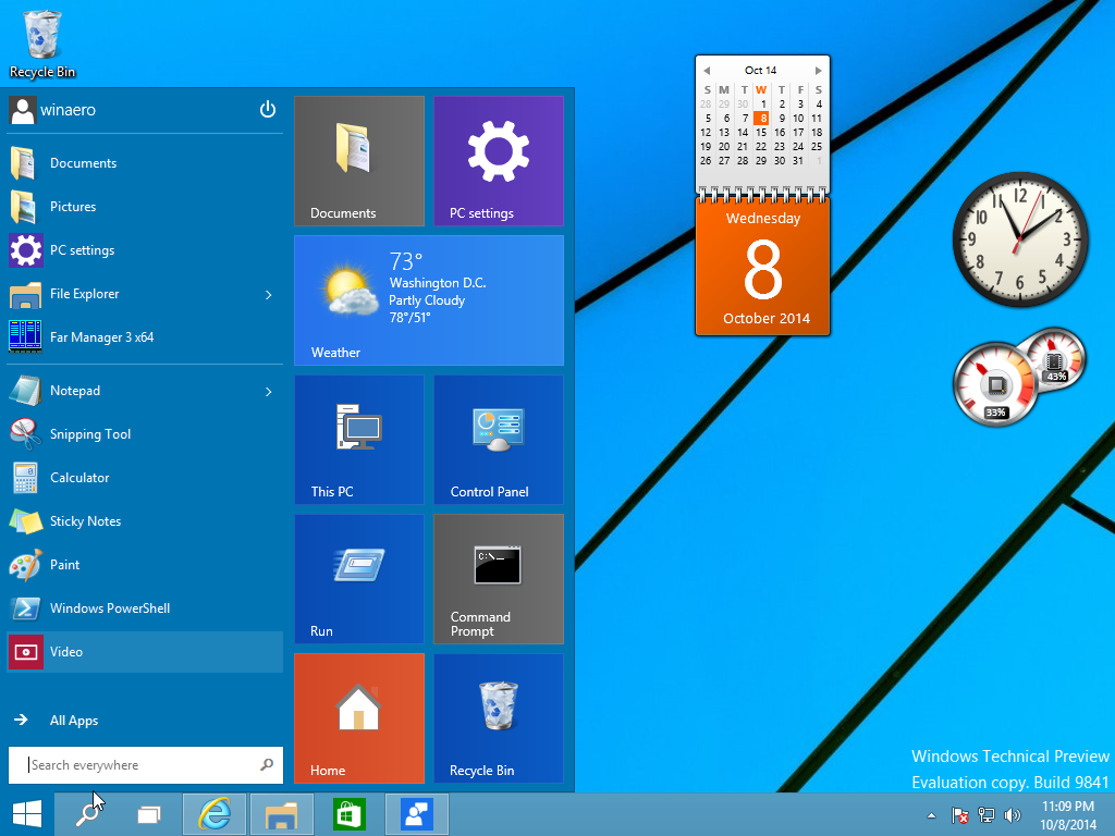 Clock And Calendar Widget Windows 10