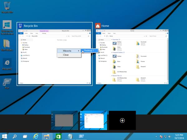 move window between virtual desktops in Windows 10