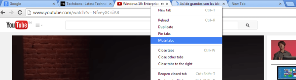 mute several tabs Google Chrome