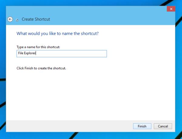 name file explorer shortcut