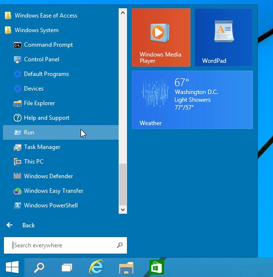 windows system folder
