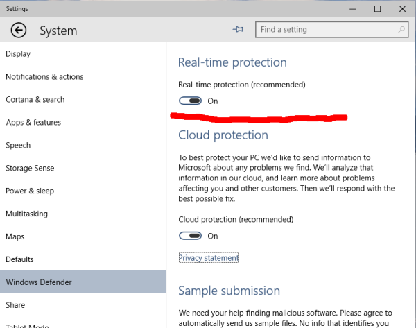 Windows 10 Disable Windows Defender