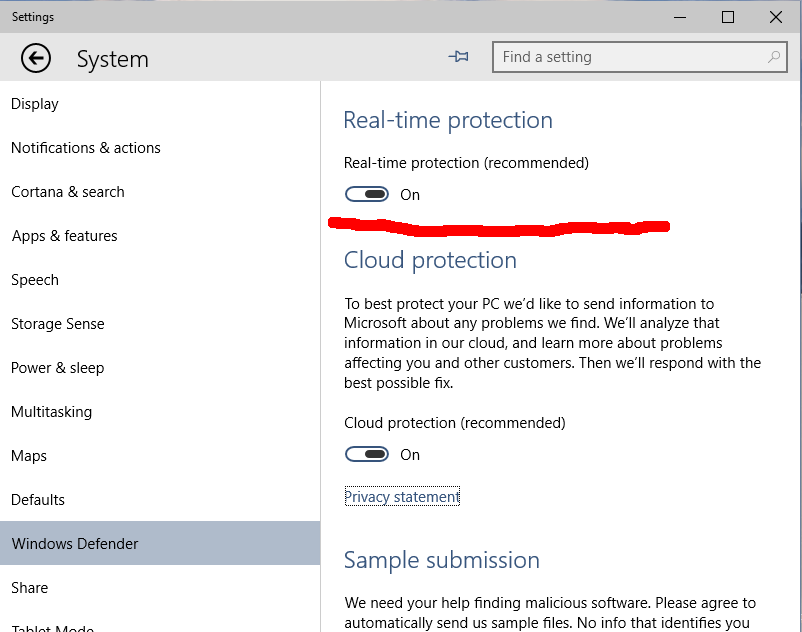 windows defender  win 10 for free