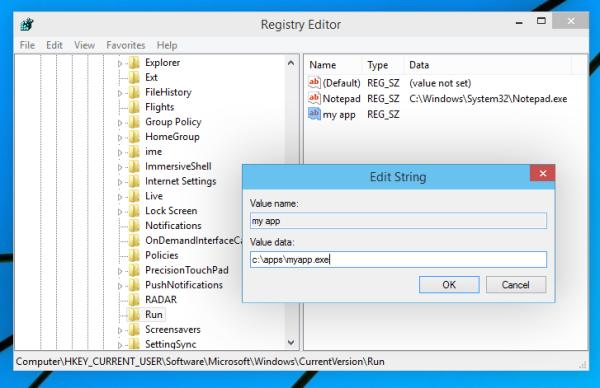 add new app to registry