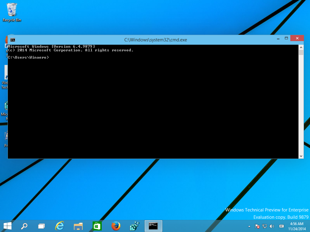 Open command prompt fullscreen in Windows 10