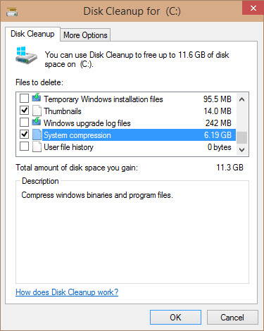 Compress Old Files Disk Cleanup 24