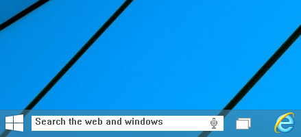 taskbar searchbox Windows 10