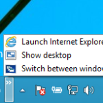 quick launch toolbar in Windows 10
