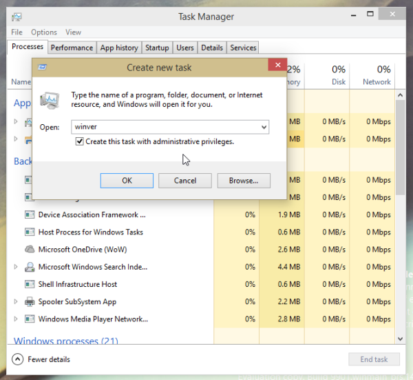 Task Manager run as administrator
