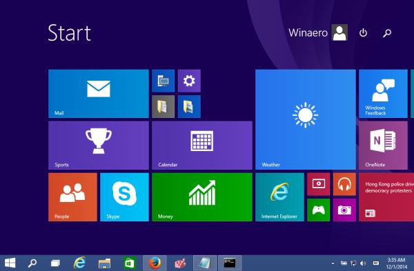 start screen windows 10