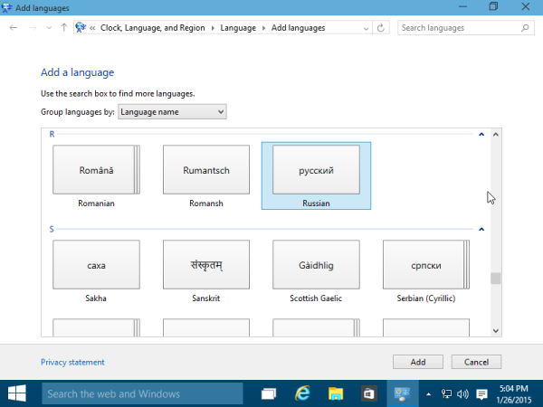 how to add language to windows 10