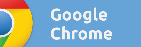 google chrome logo banner