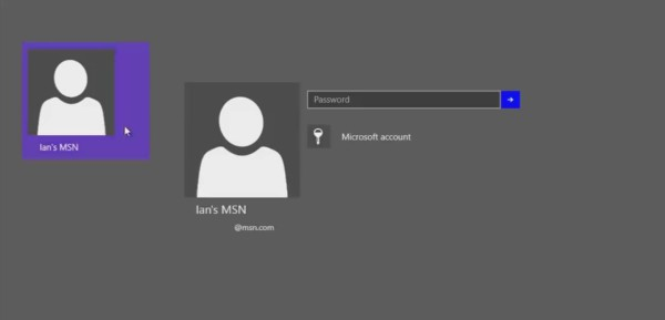 new login screen
