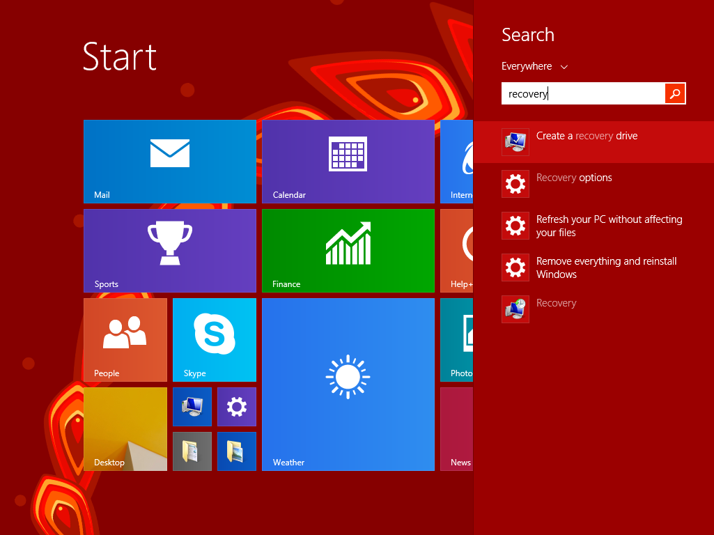 how to boot from recovery drive in windows 8
